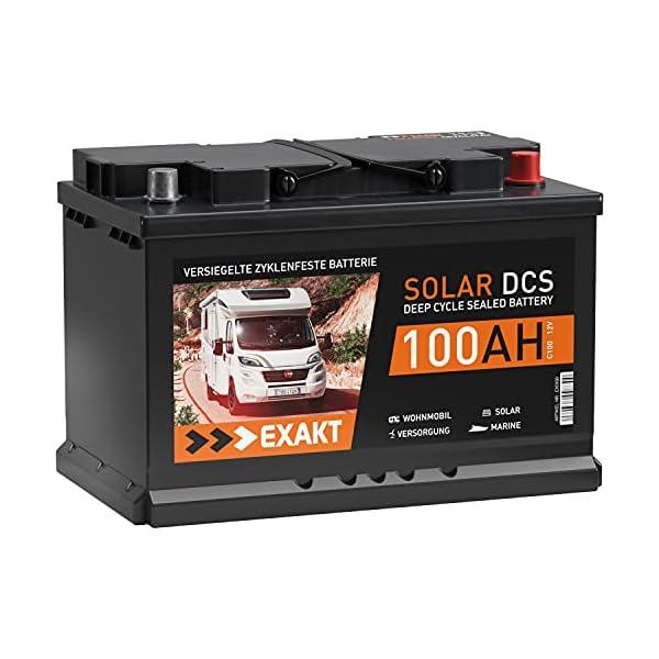 51gQ0U 5VlS Solarbatterie 100Ah 12V EXAKT DCS Wohnmobil Versorgung Boot Solar Batterie Größenwahl (100AH 12V)