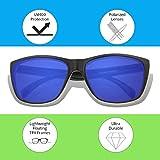 d73c622fcb Floating Sunglasses - Polarized Floatable Wayfarer Shades by KZ Gear - 100%  UV400 Lenses - KZ Shades that Float - Classic Floatable Style (Glossy Black  ...