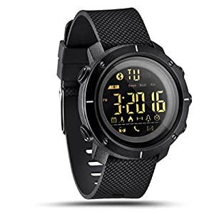 Fitness Smart Watch For Men Women -LEMFO LF19 Digital Sports Watch IP68 Waterproof LED Backlight SmartWatch (Black)