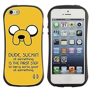 Be-Star Impreso Colorido Diseño Antichoque Caso Del iFace Primera Clase Tpu Carcasa Funda Case Cubierta Par Apple iPhone 5 / iPhone 5S ( Funny Suckin' Message )