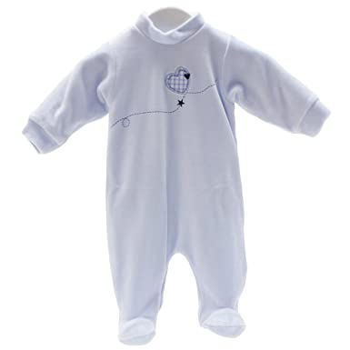 Cambrass Unisex Baby All in One Plain Egyptian Cotton Playsuit
