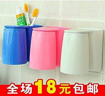 CWAIXX Magnético-mug Colgante magnético colorido versátil lavar Cuarto de baño cepillo de dientes plástico estante de taza Sostenedor de taza, ...