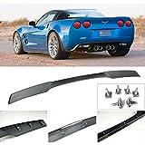 VXMOTOR Matte Black Rear Trunk Lip Spoiler Wing 2005-2013 Corvette C6 ZR1 ABS Plastic w/Hardware