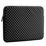Laptop Sleeve, Evecase 15 - 15.6 inch Laptop Universal Diamond Foam Splash & Shock Resistant Neoprene Sleeve Case Bag - Black