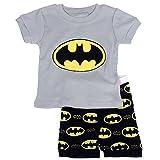 """Gray Bat "" Boys Shorts 2 Piece Pajama Set 100% Cotton G6057,Size 6Mos-14Yrs"