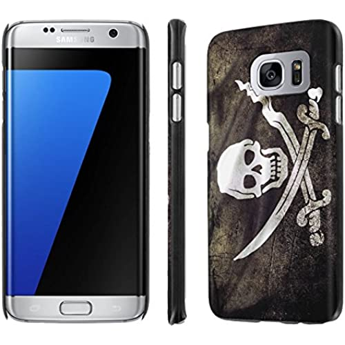Galaxy [S7 Edge] [5.5 Screen] Phone Case [NakedShield] [Black] Ultra-Slim Jacket Cover Case - [Flag Pirate] for Samsung Galaxy [S7 Edge] [GS7 Edge] Sales