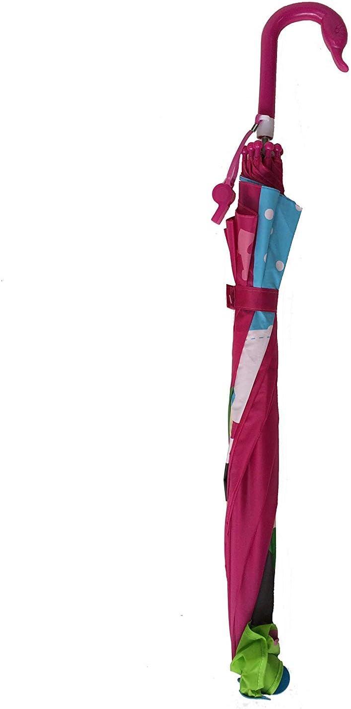 Princesse SMATI Long Parapluie Enfant Sifflet l/éger Cloche 3D