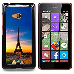 - Eiffel Tower France/ Hard Snap On Cell Phone Case Cover - Cao - For Microsoft Nokia Lumia 540 N540