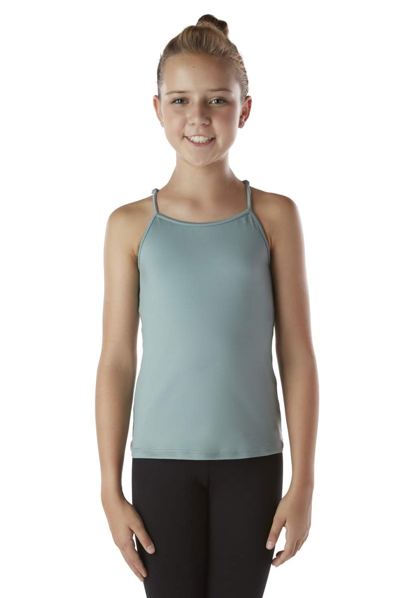 Liakada Girls Padded Top Tank Top with Scoop Neckline Dance, Gym, Yoga, Cheer! by Liakada