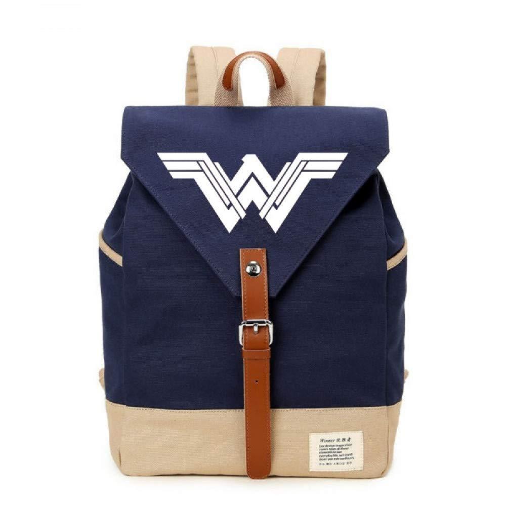 GMYANSJB Mochila Casual de Wonder Woman Bolso de Lona Bolso Escolar Bolso de Viaje Mochilas para Mujeres Adolescentes de Teenagenrs