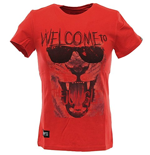 Two Angle Herren T-Shirt YLION Red Rot