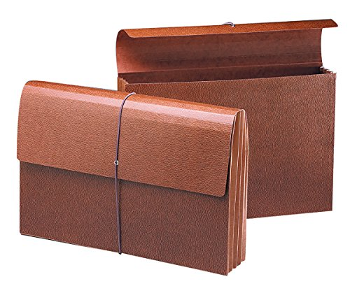 "Smead Expanding Wallet, 3-1/2"" Expansion, Flap and Cord Closure, Redrope Gusset, Legal Size, Redrope-Printed Stock, 10 per Box (71356)"