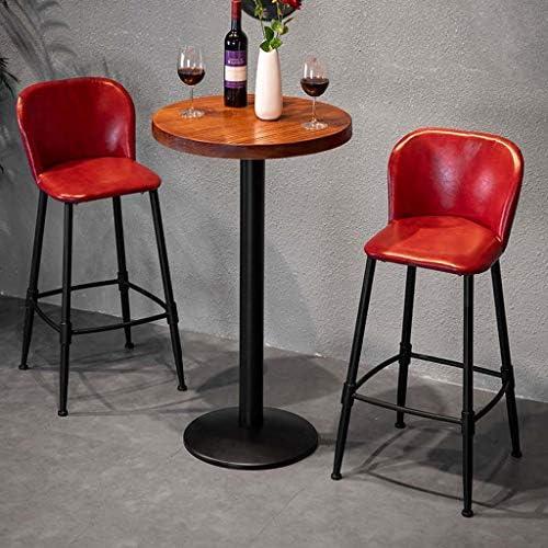 JXS-Barstools Tabouret de Bar Tabouret de Bar Chaise Haute familiale Comptoir de Bar Décoration Décoration de Salle à Manger décontractée Chaise Coussin en Cuir Rouge 100Cm