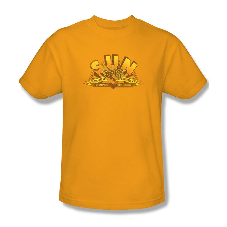 Sun - Mens Rockin Rooster Logo T-Shirt In Gold, Medium, Gold