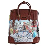 Nicole Lee Fiona Rolling Business Tote, Bicycle, One Size