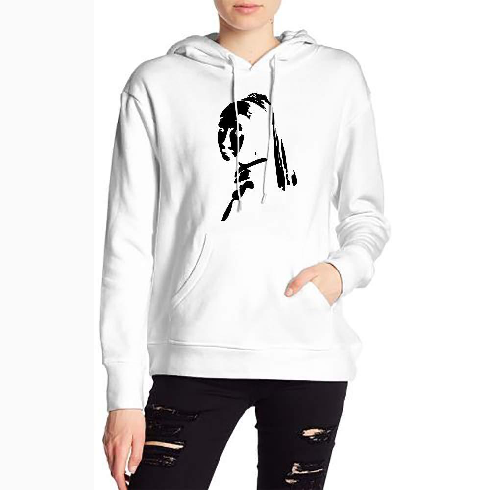 JiJingHeWang Woman Girl Long Sleeve Funny Drawstring Sweater