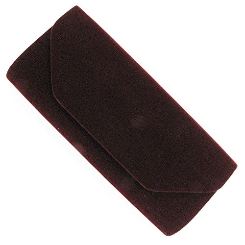Rosso velluto da sera, in velluto, da borsetta Clutch Bag Handbag