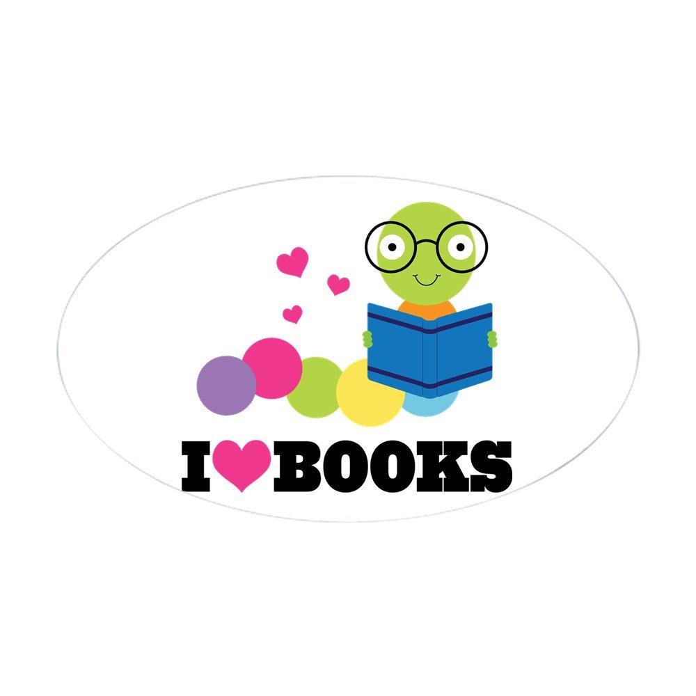 春夏新作 CafePress – – Bookworm - I Heart Booksステッカー(楕円形) – オーバルバンパーステッカー、ユーロオーバル車デカール Small Small - 3x5 06758753073C784 Small - 3x5 ホワイト B00QH801HQ, EVER GRAYSエバーグレイス:86957b4b --- mvd.ee