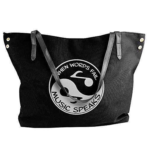 Black Handbag Yin Messenger Large Canvas Bag Music Tote Hobo Yang Tote Shoulder Women's Zx7qF6x