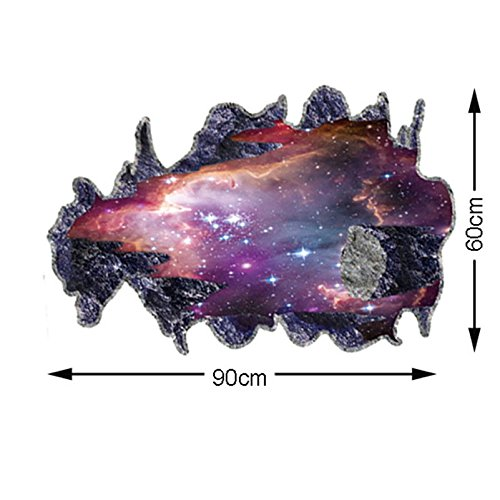 3D Wall Stickers Decals Galaxy Space meteor Ceiling Home Decor PVC wallpaper - Meteor Ban Ray