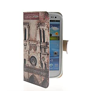 EVERGREENBUYING Flower Famous Building Series Flip Leather Wallet Card Pouch Shell Etui Case Cover For Samsung Galaxy S3 I9300