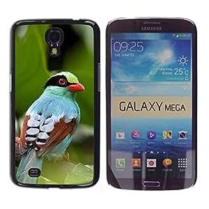 TopCaseStore / la caja del caucho duro de la cubierta de protección de la piel - Tropical Bird Nature - Samsung Galaxy Mega 6.3 I9200 SGH-i527
