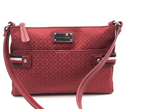 Tasche Crossover *XBODY* Kuriertasche 25x16x4cm, rot, mit silbernen TH Logo Anhänger, Damen Tommy Hilfiger
