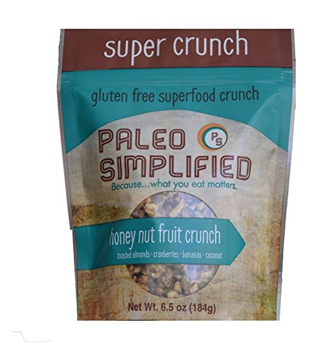 Paleo Simplified Honey Nut Fruit Crunch Granola, 6.5 Ounce Single Pack, Gluten Free Grain Free, Raw Vegan Paleo Snack - Farms Stores At Aurora