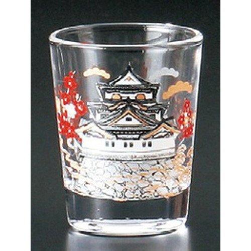 Glass Shot Glass Castle [50 x 65 mm] Japanese Souvenirs Kimono Ukiyo-e GiftsArt Authentic Old Japan Beauty