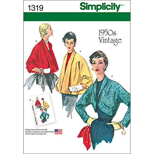 - Simplicity 1319 1950's Vintage Fashion Women's Jackets Sewing Pattern, Sizes 6-14