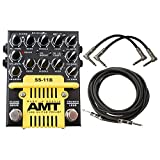 AMT Electronics SS-11B 3 Channel Dual Tube Guitar Preamp (Modern Mod) Pedal w/ 3 Cables
