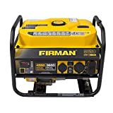 Firman P03606 Performance Series 4450/3650 Watt 120V/240V Gas Recoil Start Generator, EPA Only, Yellow