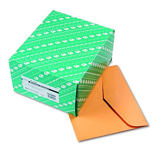 Quality Park Open-Side Booklet Envelope, Gummed, Brown Kraft, 12 x 10, 100 per Box, (54300) ()