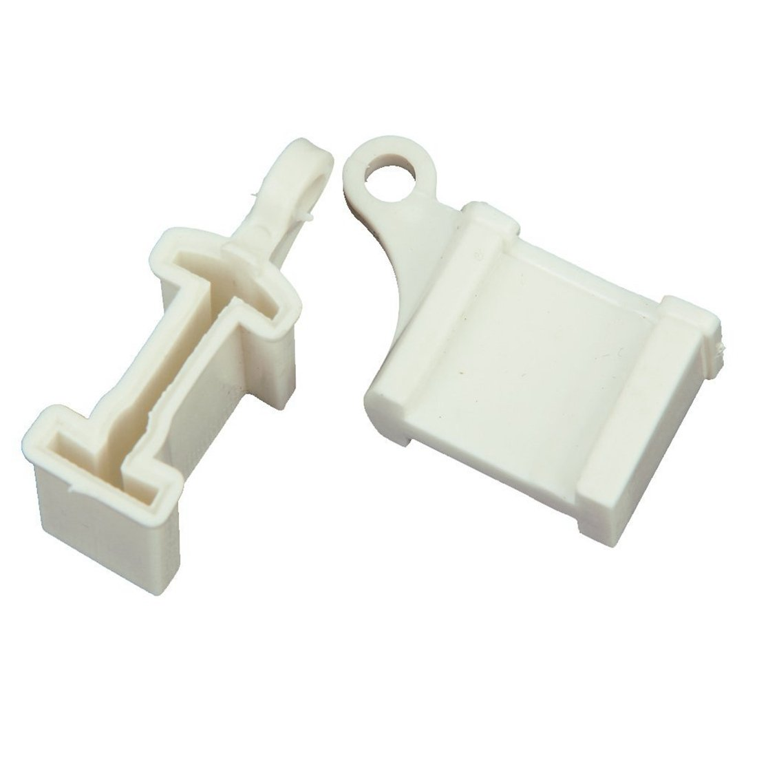 Curtain Rail Track Stops - SODIAL(R)2Pcs Window Curtain Rail Track Ends End Stops