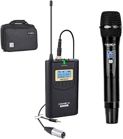 COMICA CVM-WM100 Wireless Lavalier Microphone 48 Channels UHF For iPhone Camera