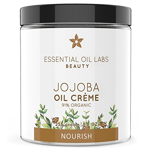 Essential Oil Labs Beauty 'Nourish' Jojoba Oil Creme 8.8 oz, 91% Organic Ingredients, Deeply Nourishing Lotion Infused with Jojoba Essential Oil, Moisturizing Relief