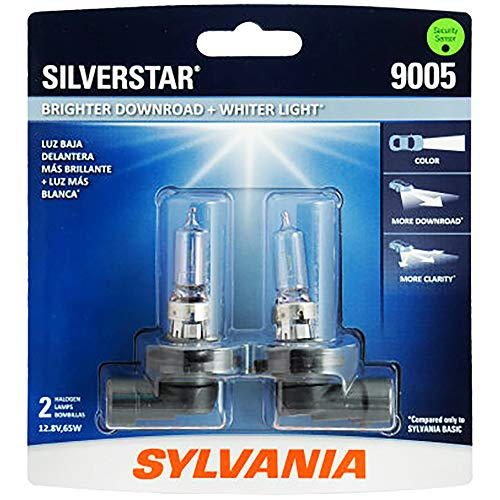 SYLVANIA - 9005 SilverStar - High Performance Halogen Headlight Bulb, High Beam, Low Beam and Fog Replacement Bulb, Brighter Downroad with Whiter Light (Contains 2 - Lx450 Replacement 1997 Lexus