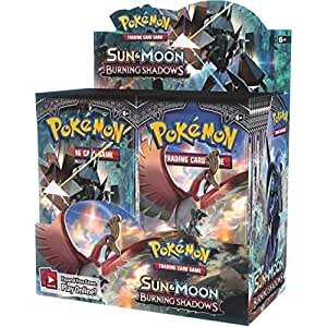 Pokemon Card Game Sun and Moon Burning Shadows Booster Box - 36 Booster Packs 324 Cards