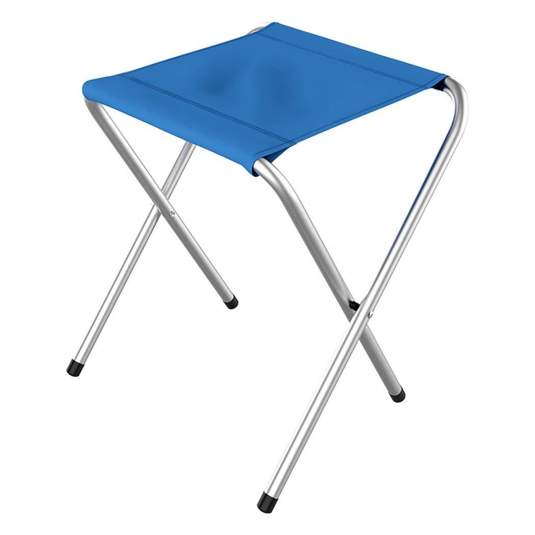 Folding Chair Portable Folding Chair Fishing Mazar Outdoor Metal Stool Leisure Stool Folding Stool (Color : Blue, Size : 24.534.5cm)