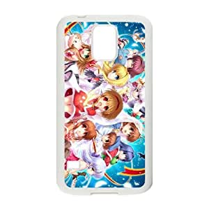 Protection Cover Samsung Galaxy S5 I9600 Cell Phone Case White Vxagw Clannad Personalized Durable Cases
