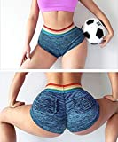 YOFIT Womens Ruched Butt Lifting Gym Shorts High