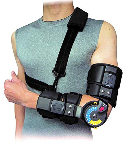 (Elbow ROM Brace- Hinged Elbow Brace for Post Op Elbow Fracture Rehabilitation, Right or Left, by American Heritage Industries (Left))