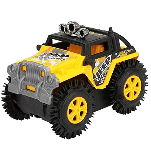 DDKK toys Hot Amazon Exclusive High Speed Remote Control Off-Road Toy 2.4G Radio Remote Control Truck MonsterChildren Dump Truck Simulation 4 Wheels Drive Jeep Electric Stunt Toy Car