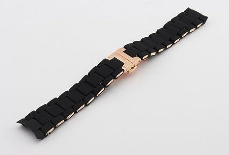 692376264d51 Amazon.com   23mm Black Rubber Watch Strap Band Bracelet For Emp. Armani  AR5905 AR5954   Everything Else