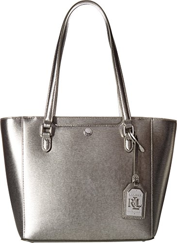 LAUREN Ralph Lauren Women's Newbury Halee II Shopper Antique Silver One Size