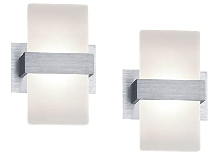 Trio élégant led applique murale platon en lot de 2 aluminium