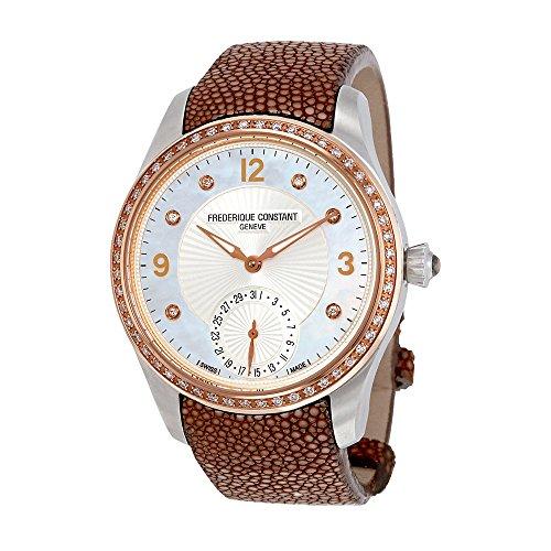 Frederique Constant Maxime White Dial White Textile Strap Ladies Watch FC-700MPWD3MDZ9-BR