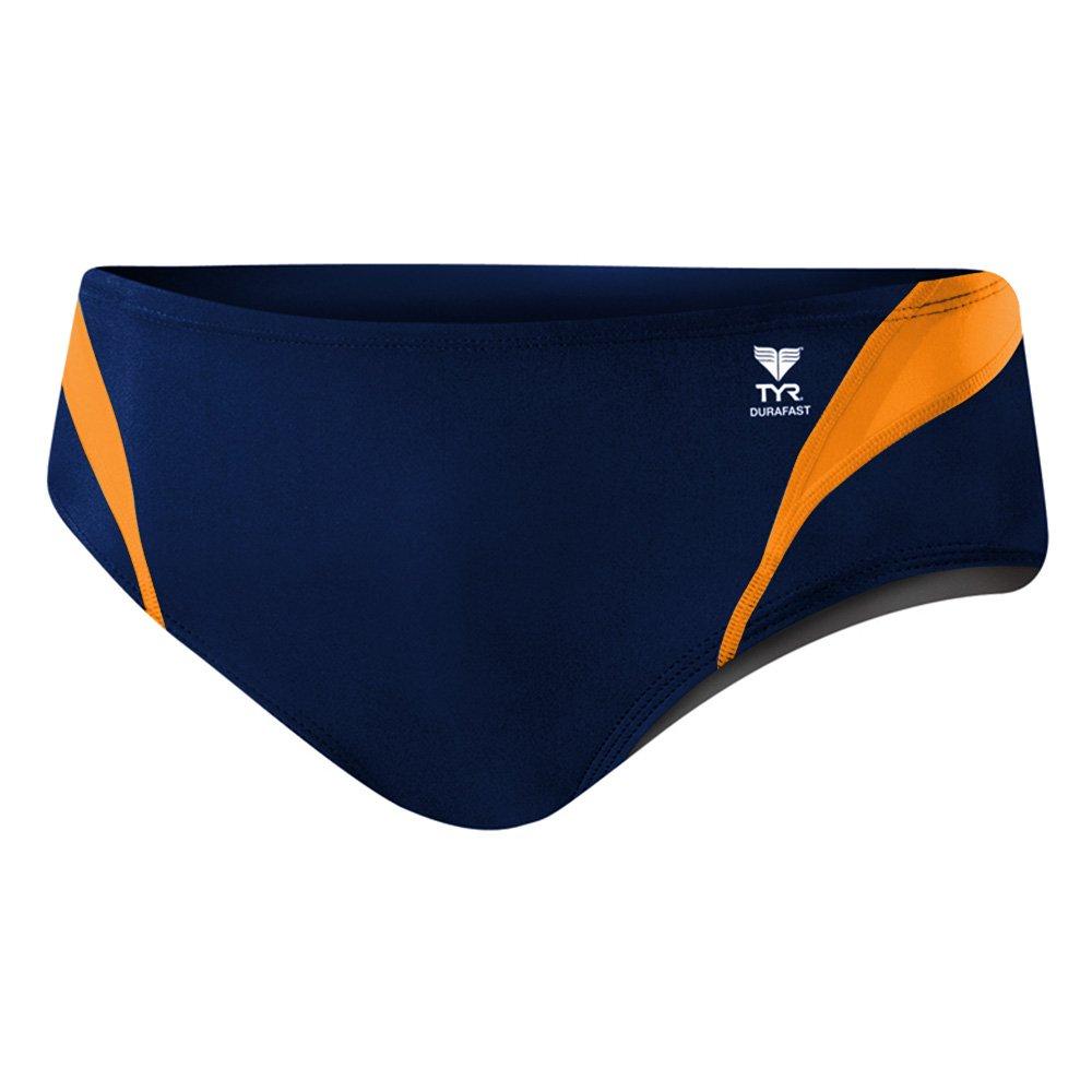 TYR Durafast One Splice Racer Swimsuit, Navy/Orange, Size 28