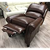 Barcalounger Churchill II Recliner Broughton Saddle Top Grain Leather 7-4440 5453-86 Manual Recline Chair