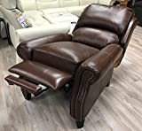 Barcalounger Churchill II Recliner Broughton Saddle Top Grain Leather 7-4440 5453-86 Manual Recline Chair Review